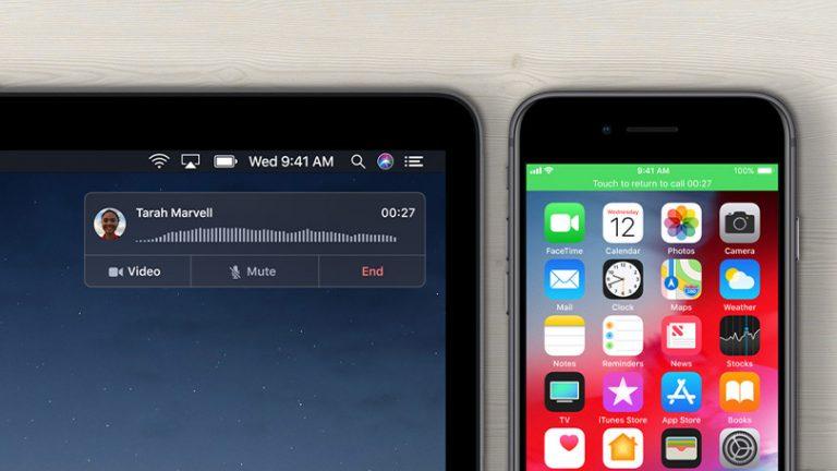 Как совершать и принимать телефонные звонки на iPad или Mac