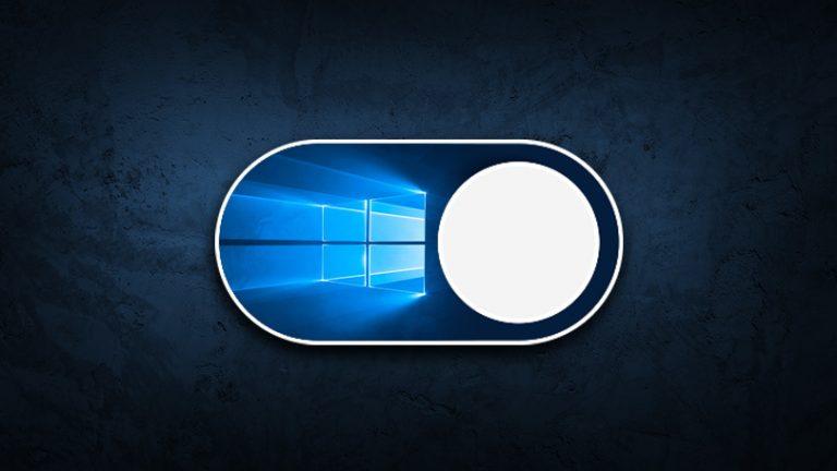 Как включить темный режим в Windows 10