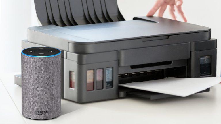 Как попросить Alexa распечатать на принтере HP