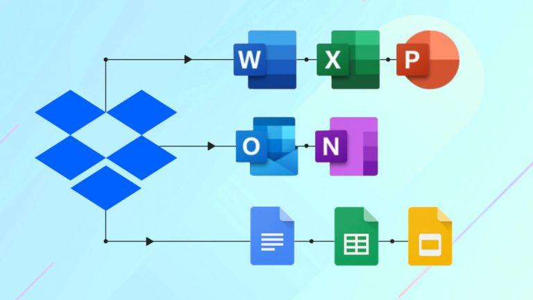 Как создать Microsoft Office, файлы Google Docs из Dropbox