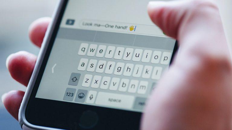 Как использовать одноручную клавиатуру iOS 11