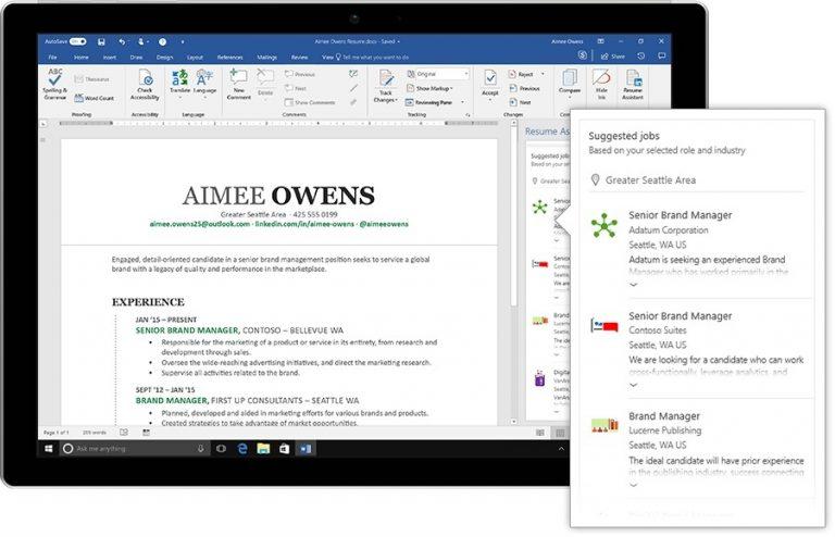 Как найти работу мечты с помощником по резюме от Microsoft