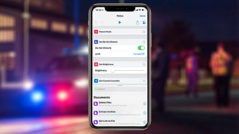 Как использовать ярлыки Siri для записи встречи с полицией