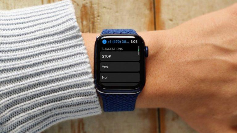 Как изменить ответы на сообщения по умолчанию на Apple Watch