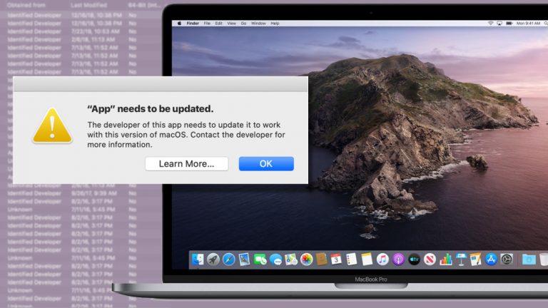 Как запускать 32-битные приложения в macOS Catalina