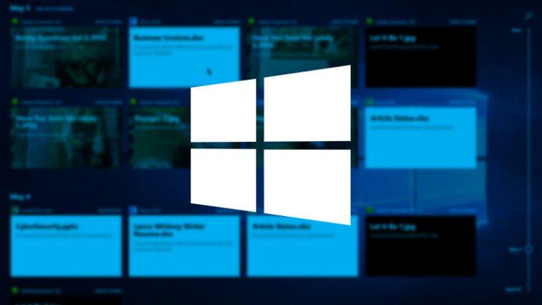 Как использовать временную шкалу Windows 10