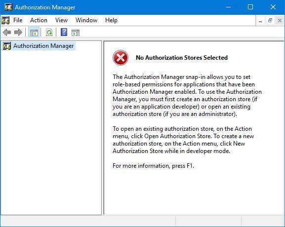 Как получить доступ к инструменту диспетчера авторизации Windows 10