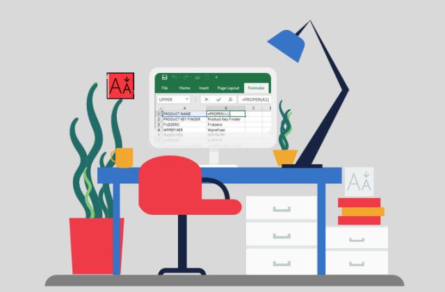 Как легко изменить регистр текста в Microsoft Excel 2019-2010