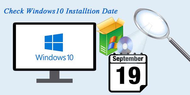3 способа проверить дату установки Windows 10
