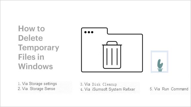 5 способов удалить временные файлы в Windows 10