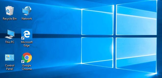 Как отображать значки на рабочем столе в Windows 10