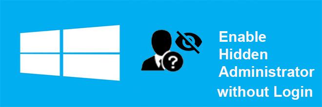Включение скрытой учетной записи администратора в Windows 10 без входа в систему