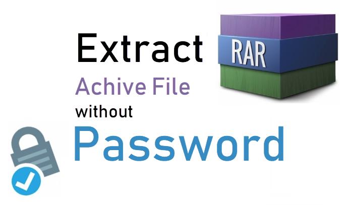 Как извлечь файлы из зашифрованного архива RAR без пароля
