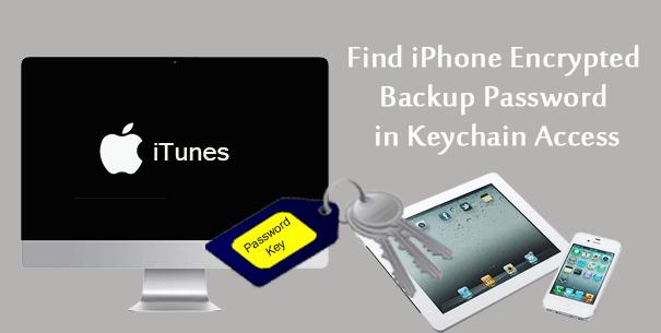 Найдите зашифрованный резервный пароль iPhone в связке ключей на MacBook