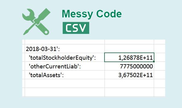 Как исправить беспорядочные коды для файла CSV в Excel 2016