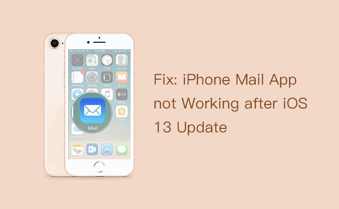 Приложение iPhone Mail не работает после обновления iOS 13