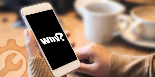 Почему у телефона черный экран?  Как исправить?