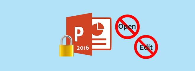 Как заблокировать презентацию PowerPoint 2016 от открытия / редактирования