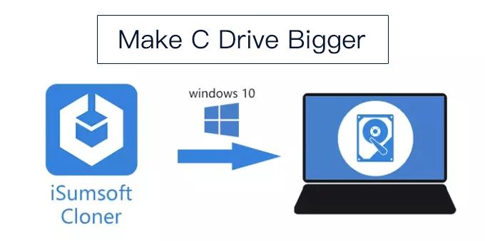 Как увеличить диск C (системный раздел) в Windows 10