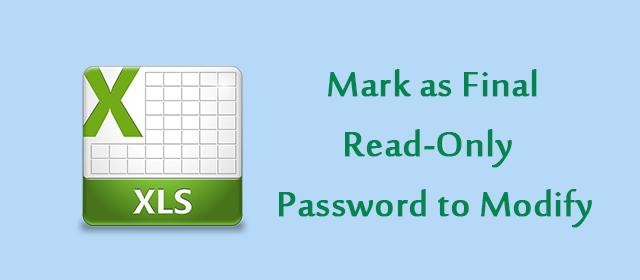 Как сделать электронную таблицу Excel только для чтения в Office 2016