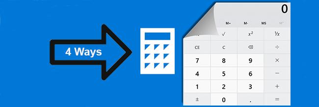 4 способа открыть калькулятор в Windows 10