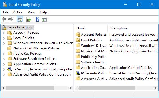 5 способов открыть локальную политику безопасности в Windows 10
