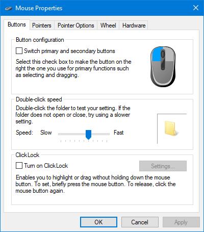 3 способа открыть свойства мыши в Windows 10