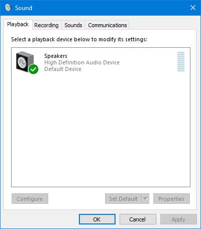 6 способов открыть звуковой диалог в Windows 10