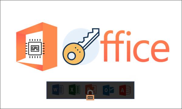 Как восстановить пароль Office Word Excel PPT с ускорением графического процессора