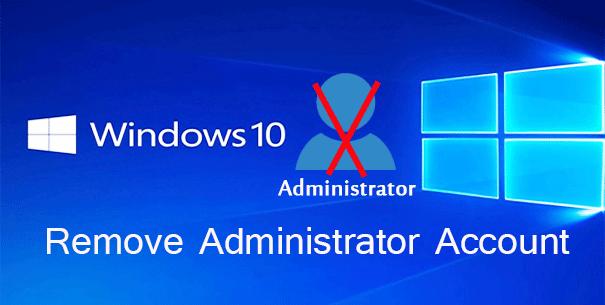 4 способа удалить учетную запись администратора из Windows 10
