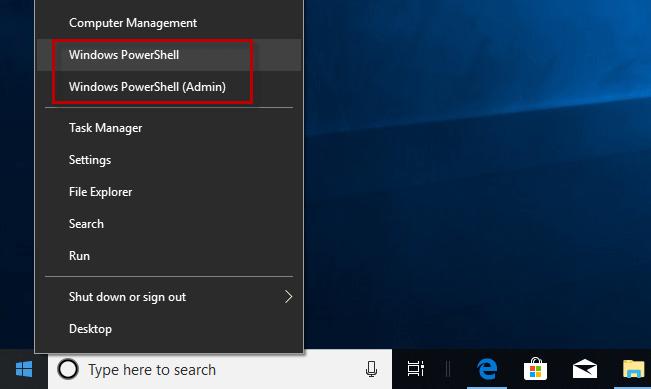 Как заменить PowerShell на командную строку в меню Win + X