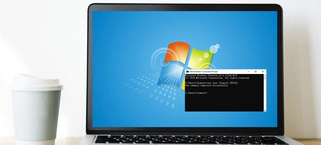 Как сбросить пароль администратора Windows 7 с помощью командной строки