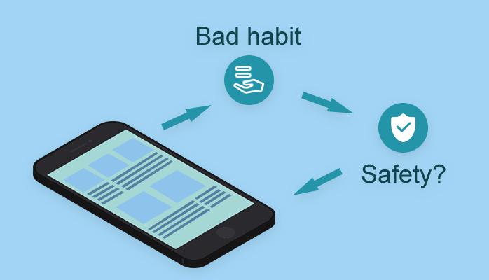 Некоторые вредные привычки, которые делают ваш телефон небезопасным