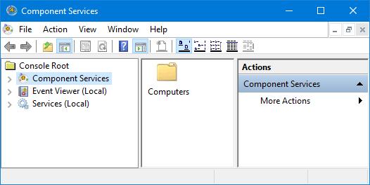 6 способов запуска служб компонентов в Windows 10