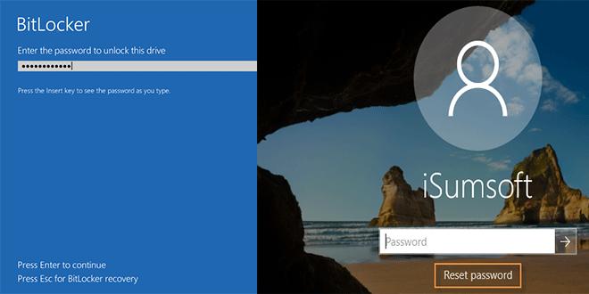 Как использовать iSumsoft Windows Password Refixer на зашифрованном диске BitLocker
